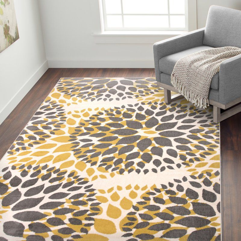 Beaudette Floral Yellow Gray Area Rug Grey Area Rug Area Rugs