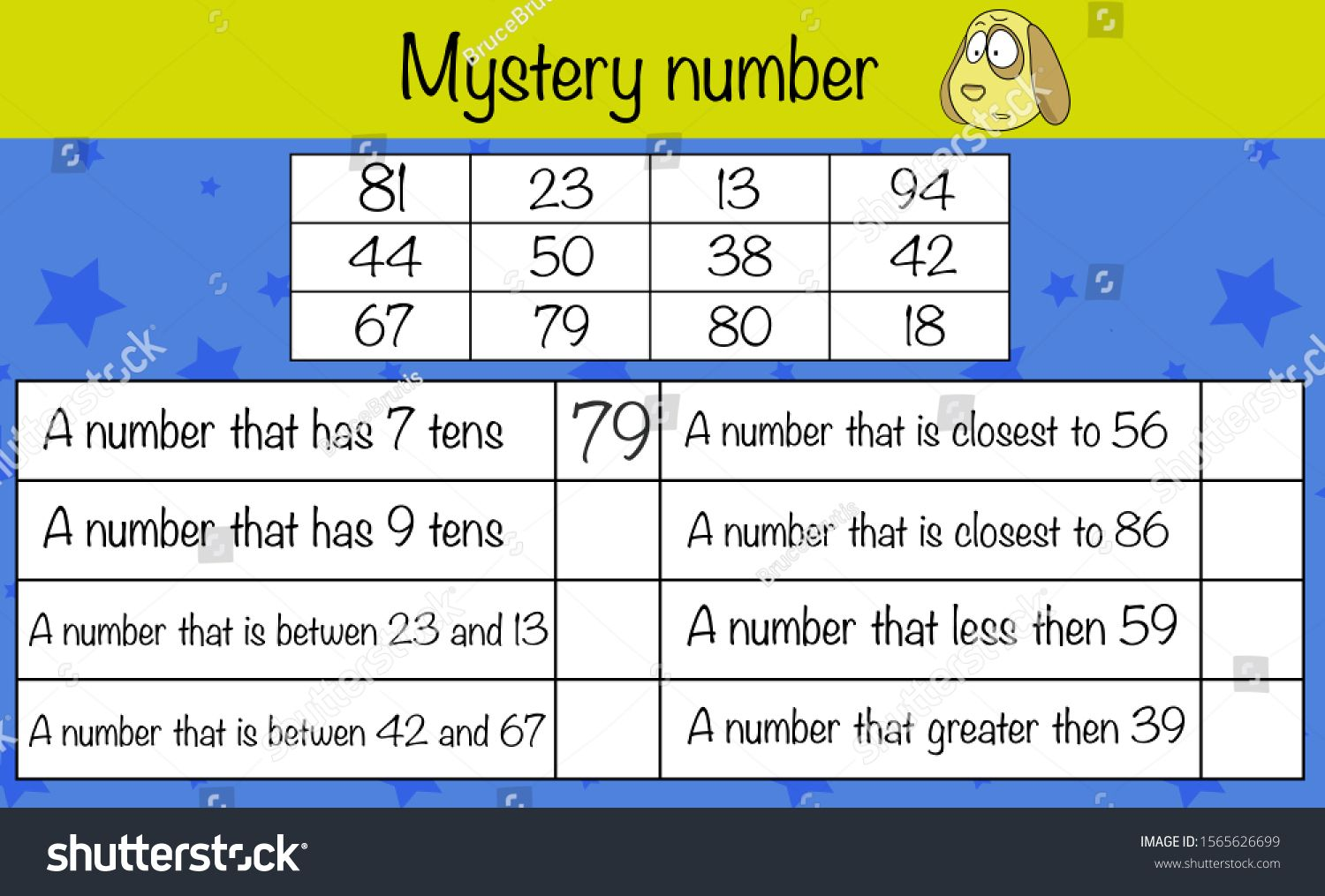 Math Puzzle Game For Children Find Right Numbers
