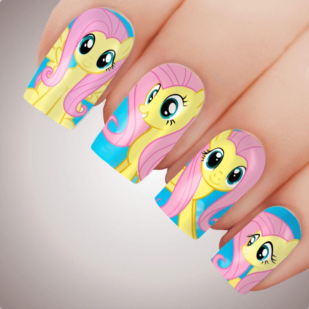 Fluttershy My Little Pony Nail Art Decal Water Transfer Slider Sticker