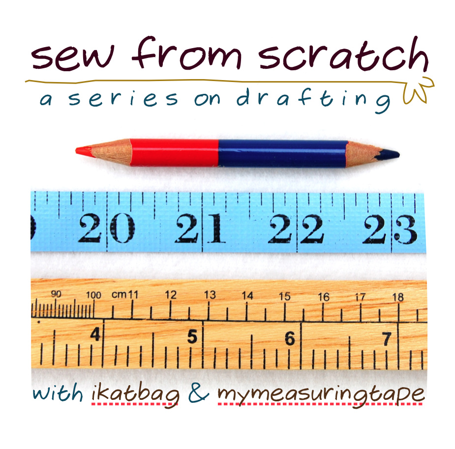 Pattern drafting! :) A whole series of posts to drafting your own patterns. Plus a link to a post on how to estimate yardage for your own patterns. NICE!!