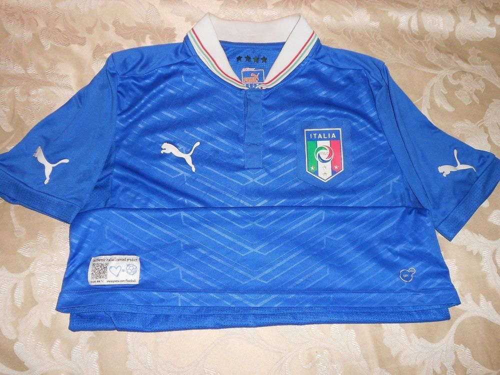 best sneakers b5f3d b2f5e ITALY NATIONAL TEAM 012-13 HOME FOOTBALL SHIRT JERSEY ...