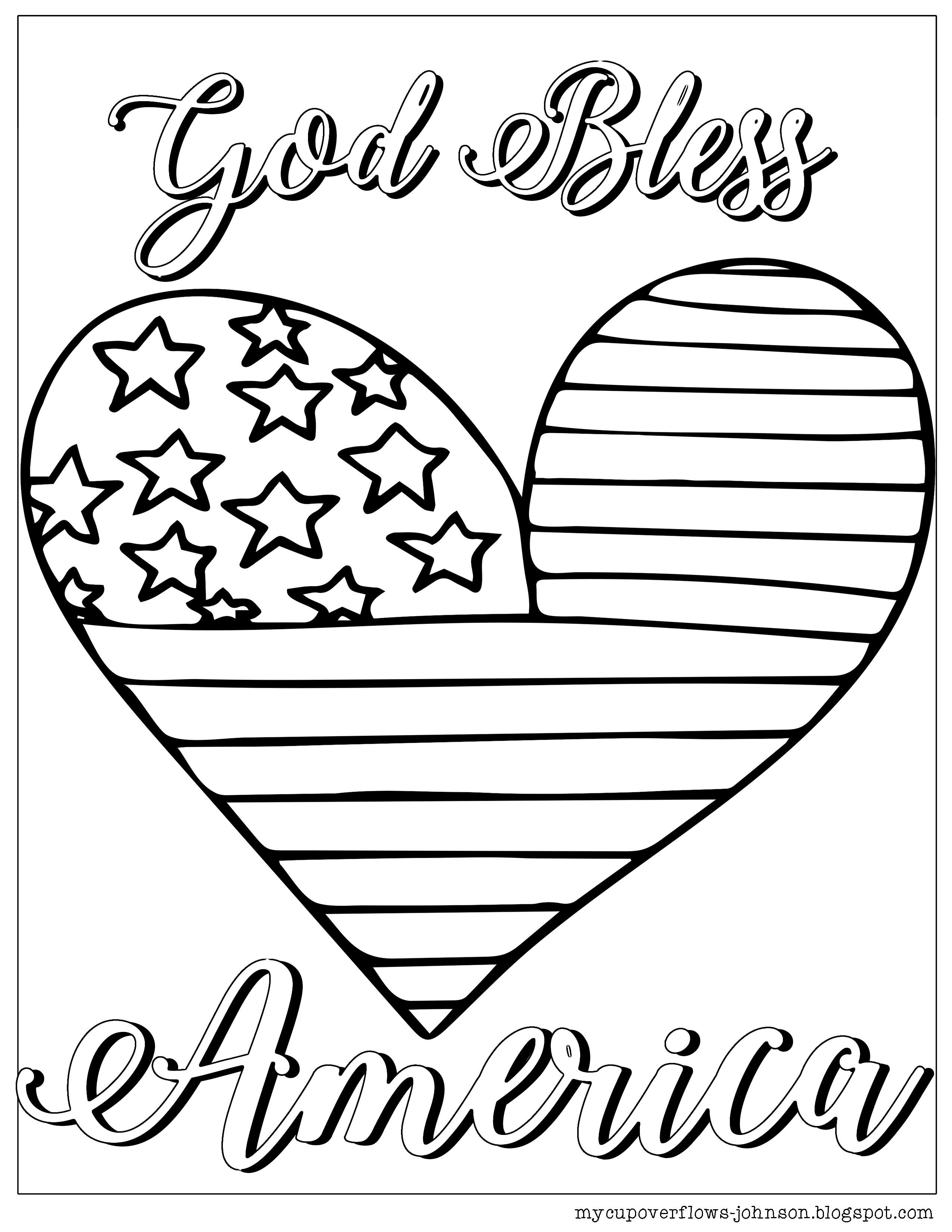 Coloring Pages For The 4th Of July God Bless America Coloring