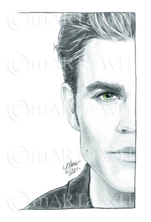 TVD01  Fan Art Print  Stefan Salvatore | Etsy