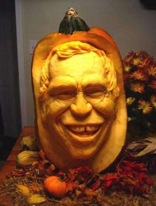 David Letterman Pumpkin SculptureCarving By Ray Villafane - Mind blowing pumpkin carvings by ray villafane 2