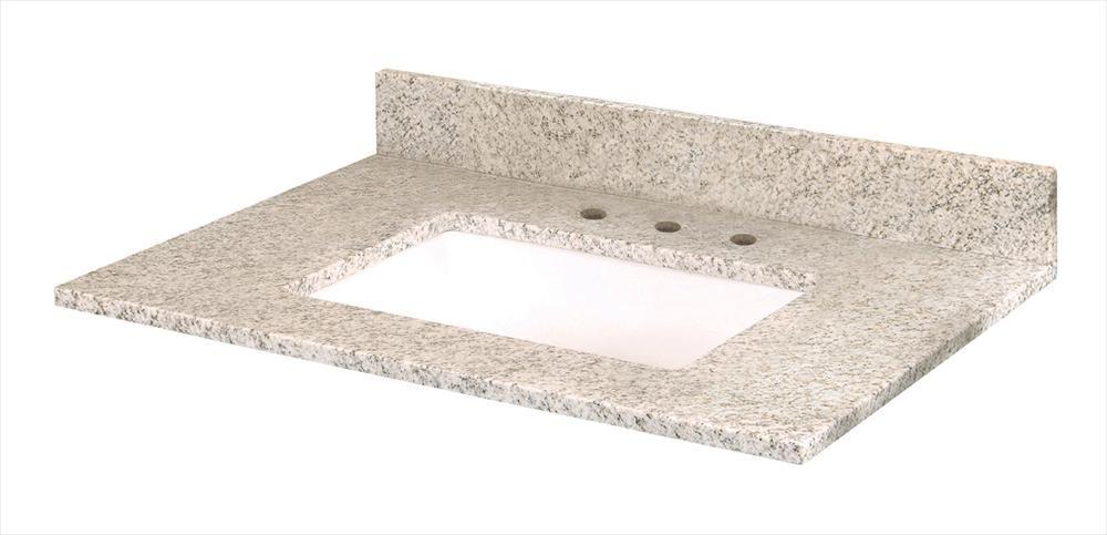 Granite Vanity Top with UM Trough Bowl Granite vanity tops