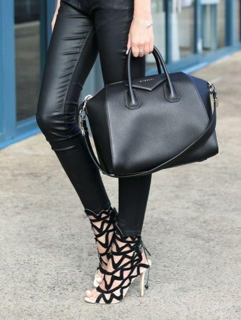 Black Medium Antigona Bag Givenchy 08O7UfW