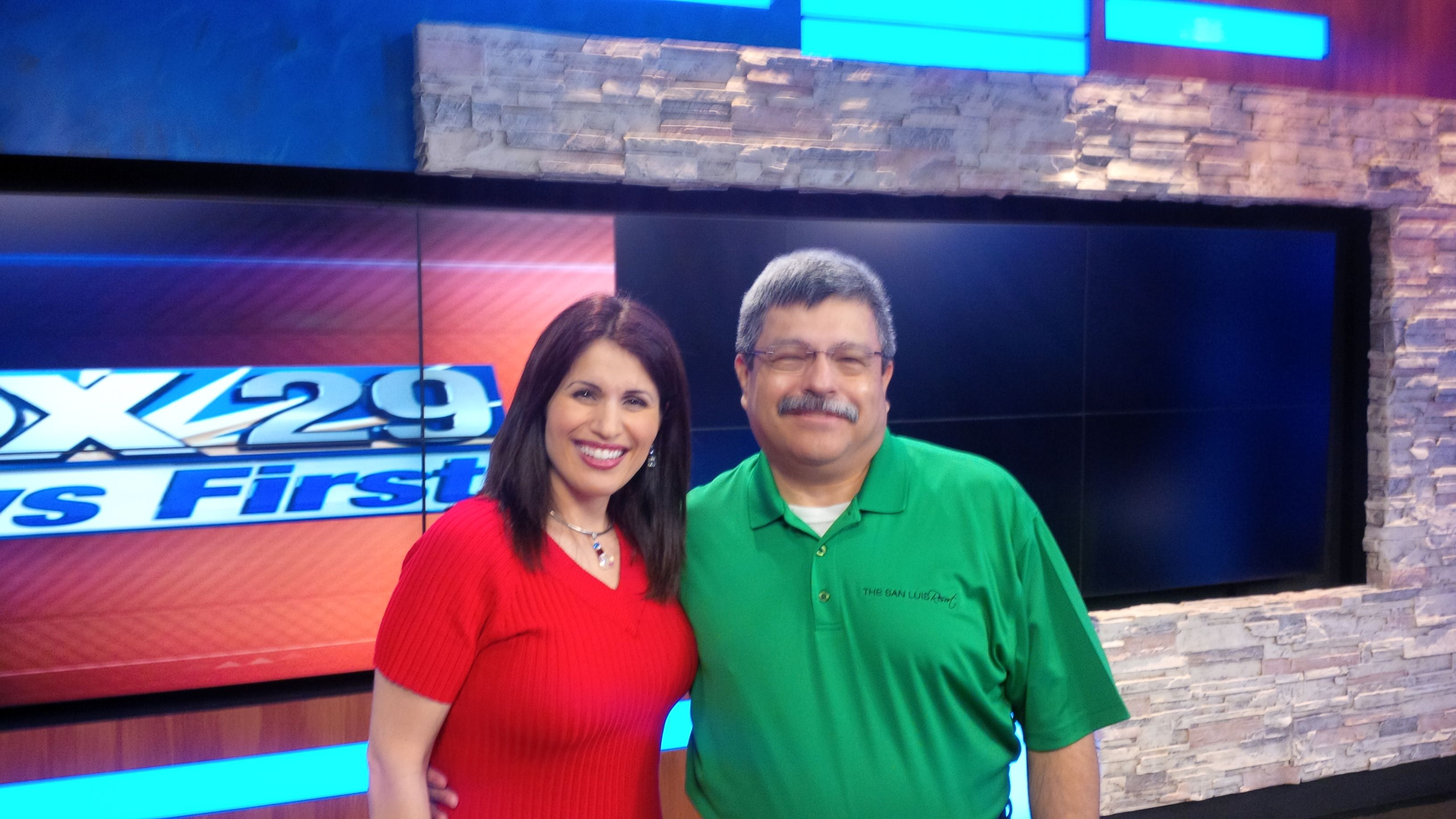 Sporting bright summer colors in-studio with the always