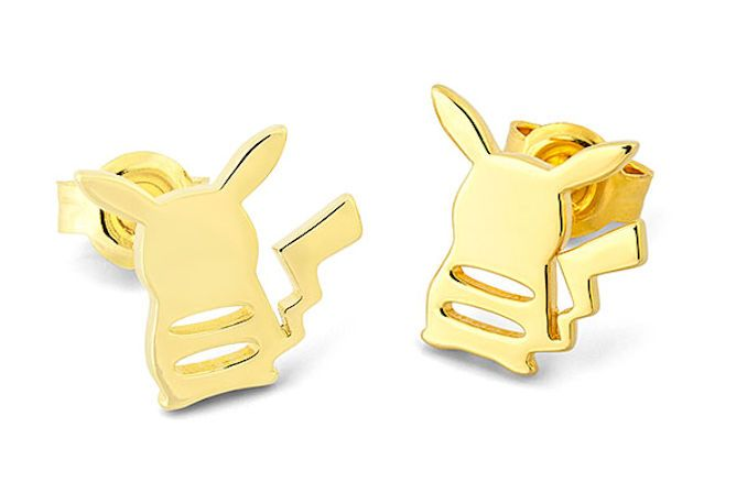 Pokemon Pikachu Gold PVD Plated Pendant Stainless Steel Necklace