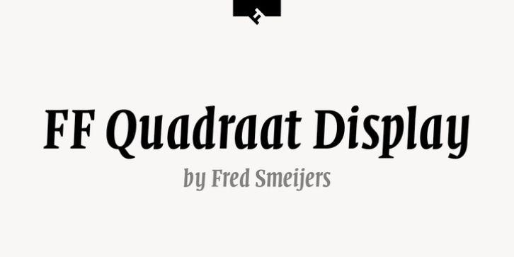 Ff quadraat display® font download   fonts, font family, premium fonts.