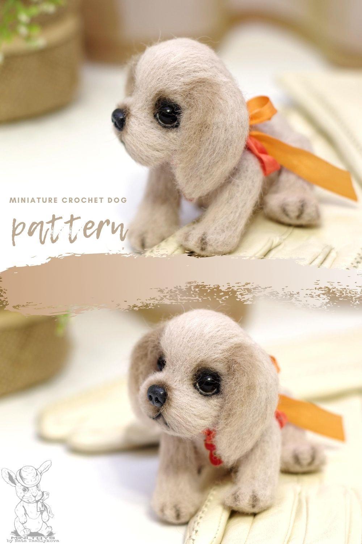 Furry puppy crochet pattern, miniature dog tutoria