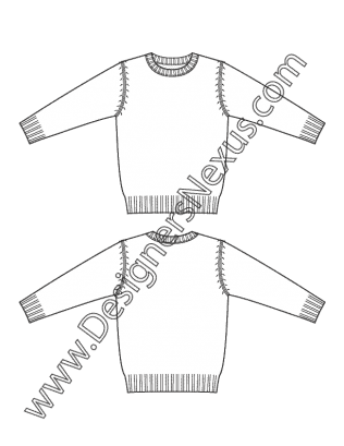 Kids Apparel Technical Flat Sketch V12 Children's Scoop