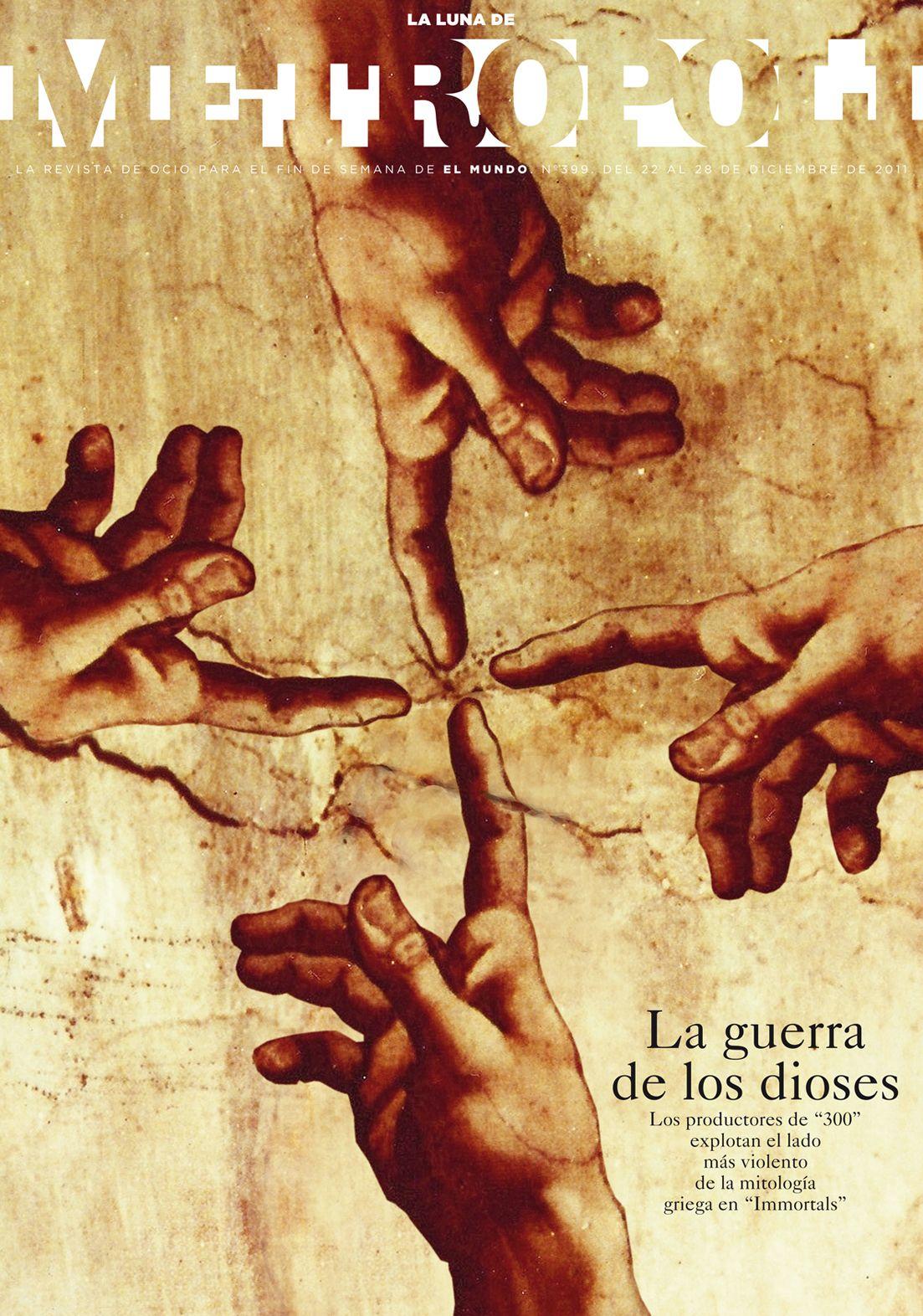 INMORTALS, la película, 2011. Ilustración de Michelangelo Buonarroti (sí, el de La Capilla Sixtina de El Vaticano. ¿Qué pasa?)
