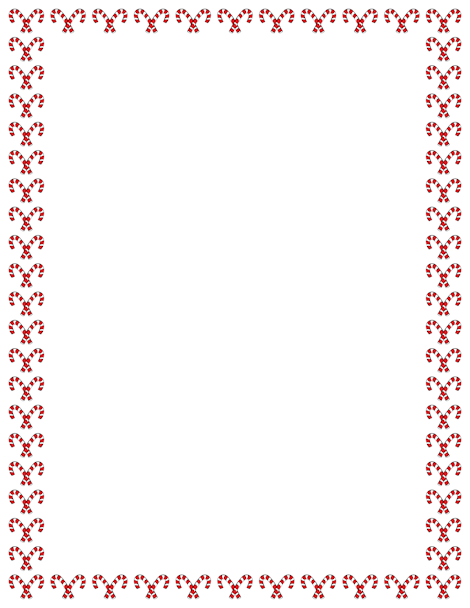 A ChristmasThemed Border With Candy Canes Free Image And Pdf