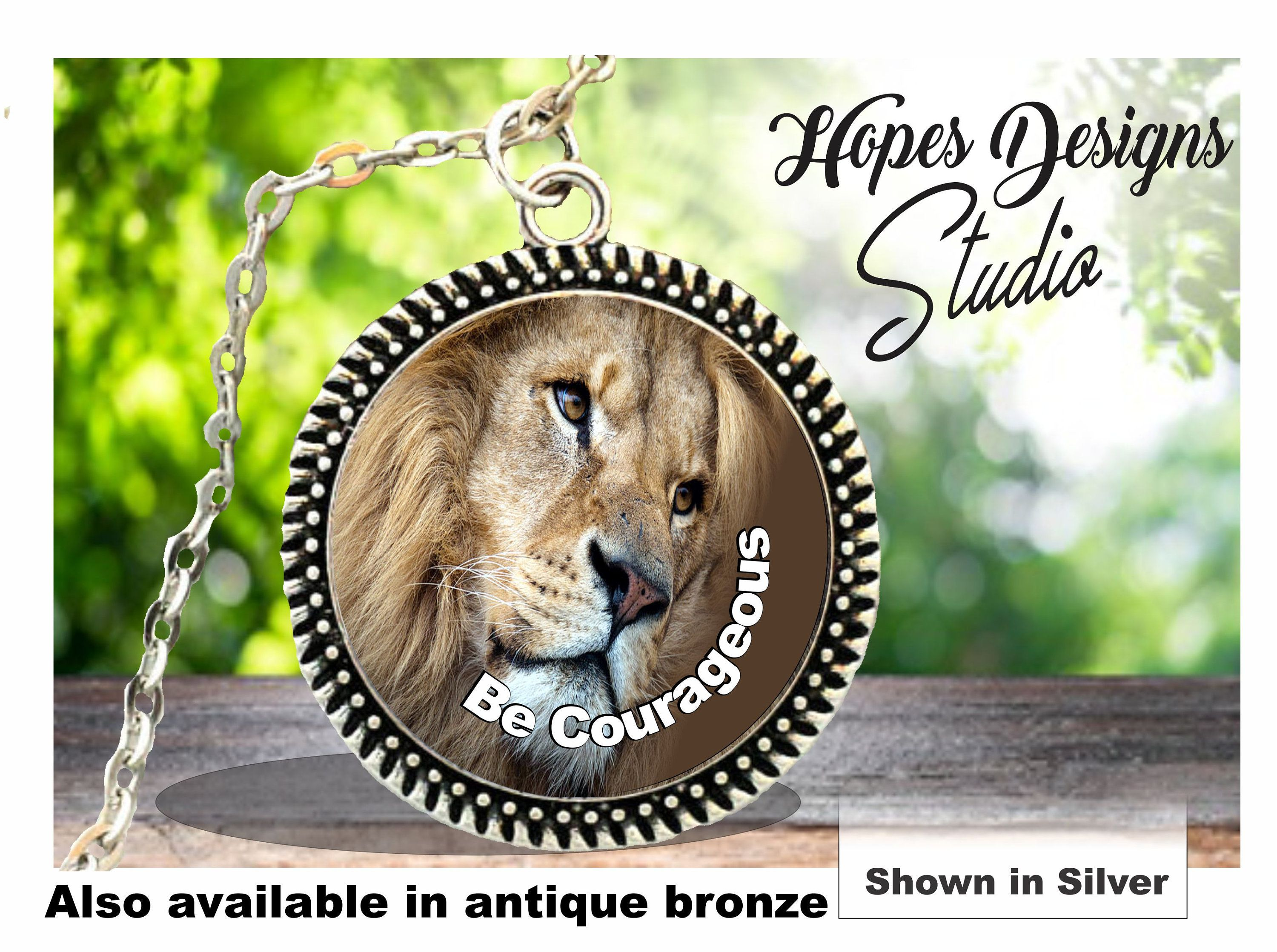 JW gifts/JW necklace 'Be Courageous' beautiful lion design/jw org