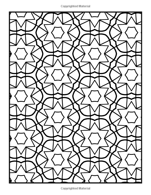Patterns Coloring Book Vol 7 Easy To Color Repeating