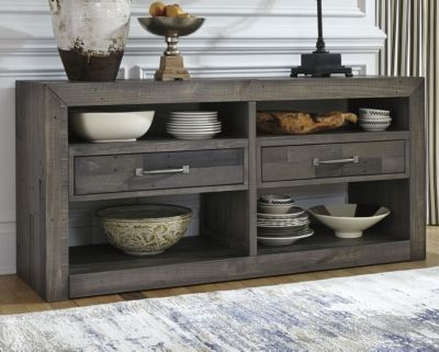 Mayflyn Dining Room Server By Ashley Homestore Charcoal Dining