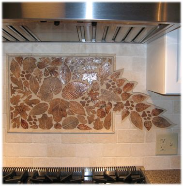 Kitchen Backsplash That Is A Unique And One Of A Kind Work Of Art