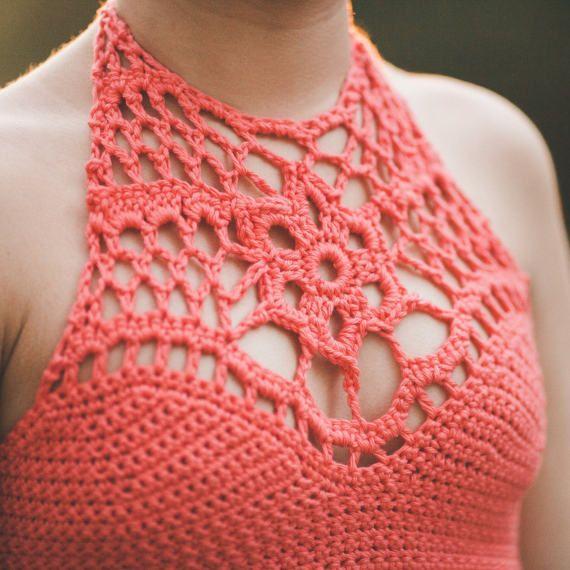 Crochet Crop Top--Mango | Tapas, Armario de y Ligeros