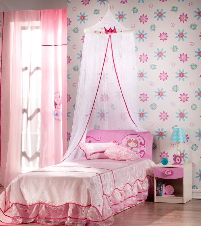 Tween Girl Bedroom Ideas Dominated In Pink And Purple Touches: Pretty  Walling Unit Pink Bedroom Floral Wallpaper Beautiful Tween Girl Bedroom  Ideas ...