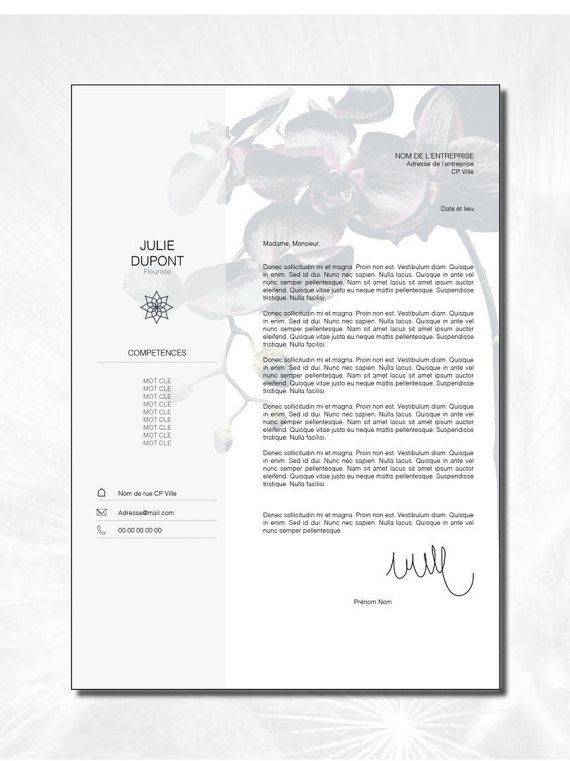 curriculum vitae cv lettre de motivation design par loveandklo