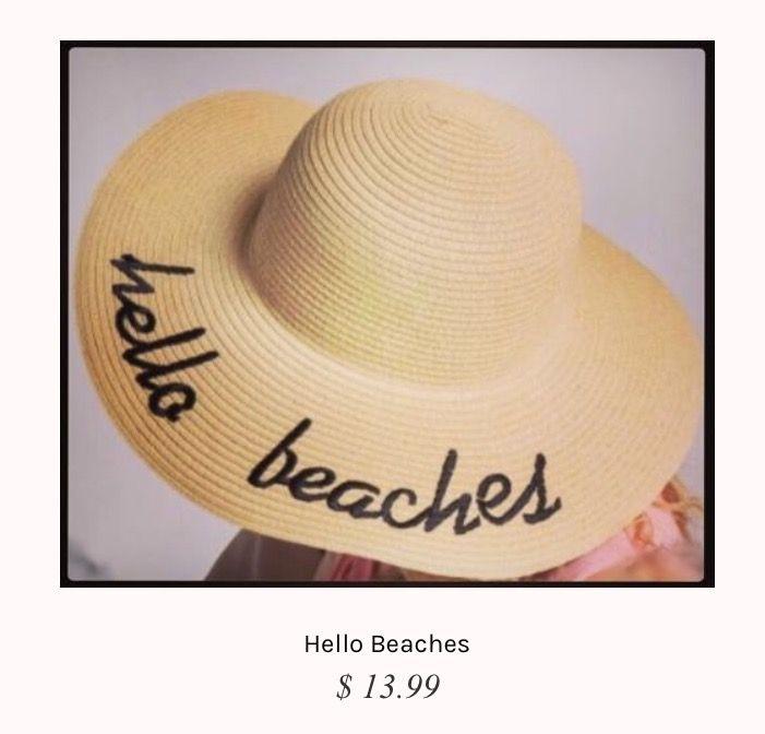 Hello Beaches Floppy Beach Hat🌴🏖 Shop   www.chictiqueboutique.com ... 75b8a2f4bac