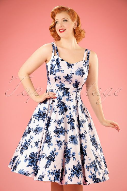 693716548cd9 Hearts and Roses White Blue Floral Dress 102 59 17141 20160415 0013w