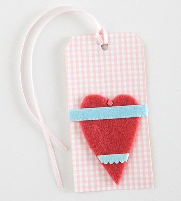 Wrapped Heart Tag
