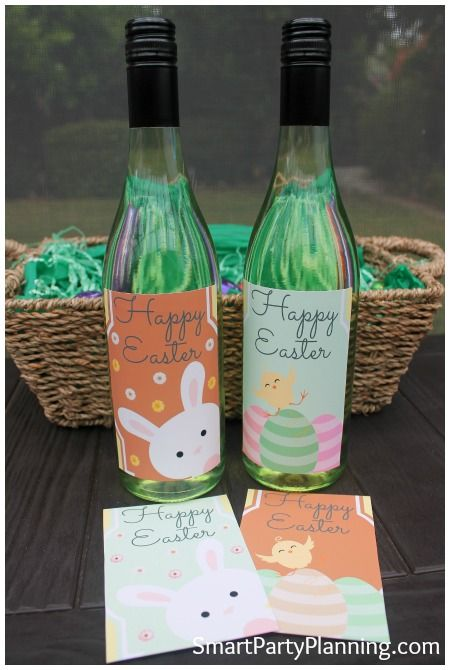 photo relating to Printable Wine Bottle Label titled The Suitable Easter Wine Bottle Labels: Excellent As An Easter