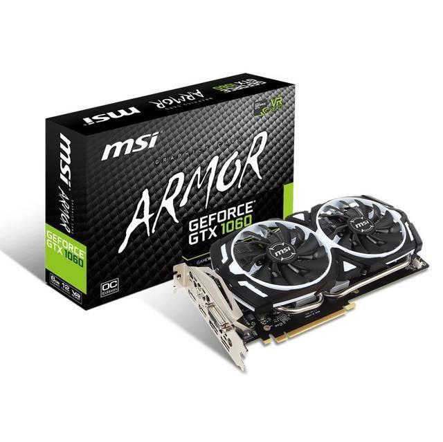 Msi Nvidia Geforce Gtx 1060 Armor Ocv1 6g Gddr5 Dvi 2hdmi