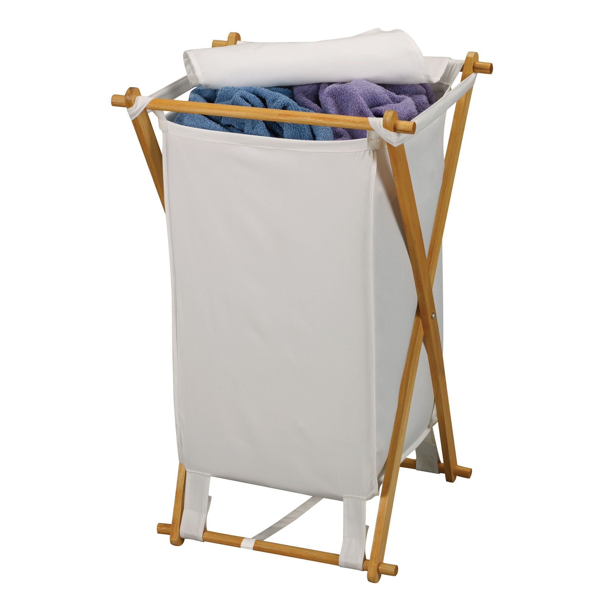 buy Fir Wood X-Frame Laundry Hamper at Harvey & Haley for only 54.25 ...