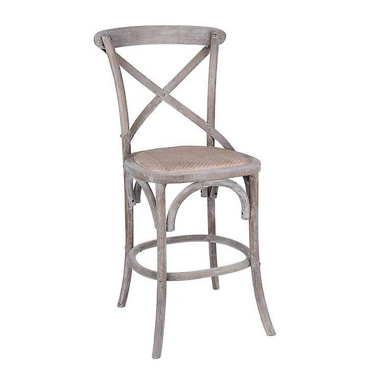 Pleasing Product Details Gray Wood X Back Rattan Seat Counter Stool Creativecarmelina Interior Chair Design Creativecarmelinacom