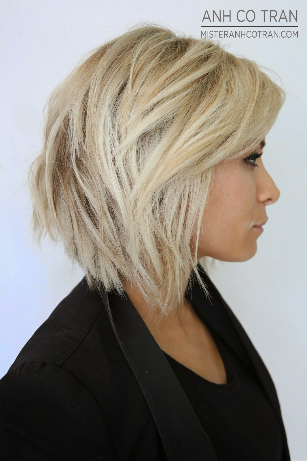 Chic layered bob cortes de cabello pinterest layered bobs