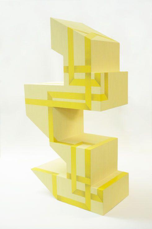 Rachel Beach: Yoke, 2011  plywood, veneer, acrylic, and enamel  32 x 17 x 11 inches