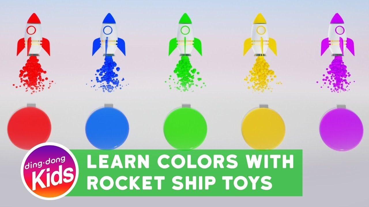 learn color with rocket ship toys for kids children and toddlers