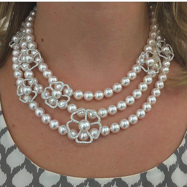 Mikimoto Pearls Necklace: Incredible Mikimoto Pearl Necklace @mpiercechicago
