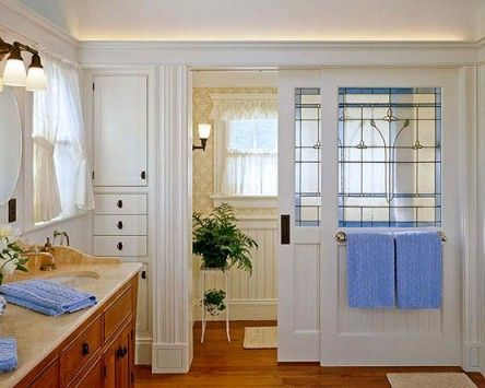 pictures of bathrooms with stained glass windows | bathroom sliding door windows | Stained Glass and other beautiful Gla ...