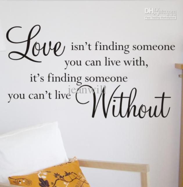 Love Quotes Vinyl Wall Art : Buy cheap love without wall quote decal sticker decor