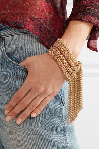 crocheted chains  bracelet #giftstyle