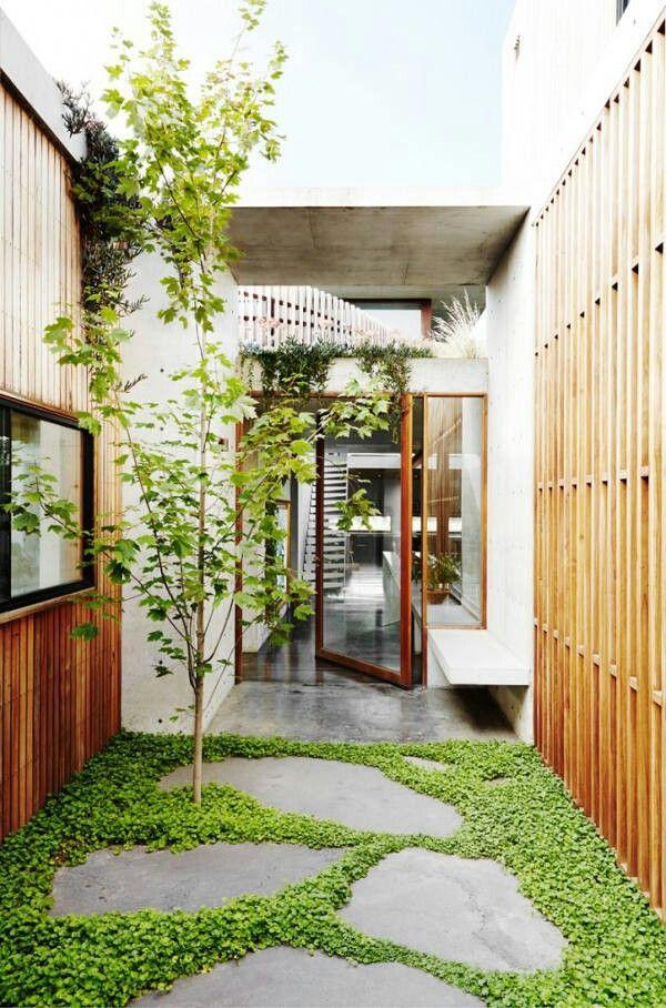 accesos verdes Courtyard (Patios Interiores) Pinterest Woods