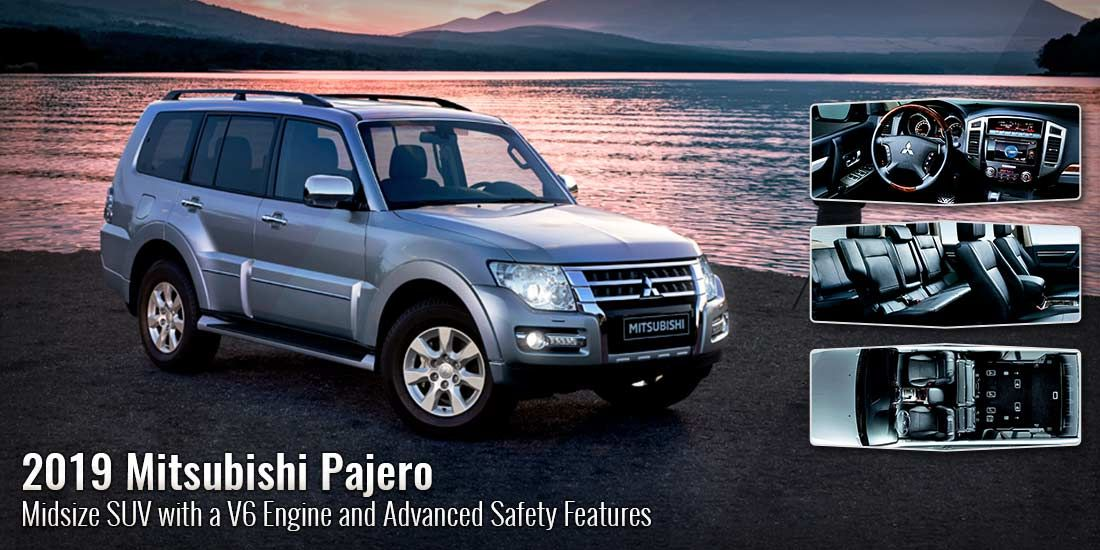 The 2019 Mitsubishi Pajero Is Now Available In The Uae With Impressive Performance Features And Advanced Safety Technologie Suv Mid Size Suv Best Compact Suv