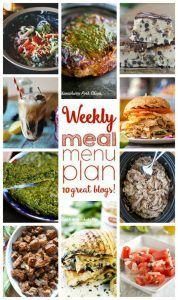 WEEKLY MEAL PLAN (WEEK 51) - 10 great bloggers bringing you a full week of recipes including dinner, side dishes, and desserts!