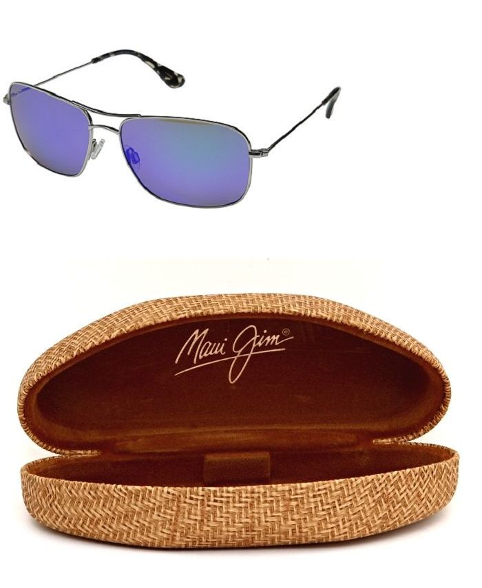 a535e2c63d4c Sunglasses 155189  New Maui Jim Wiki Wiki B246-17 Silver Blue Hawaii  Polarized Sunglasses -  BUY IT NOW ONLY   209 on eBay!