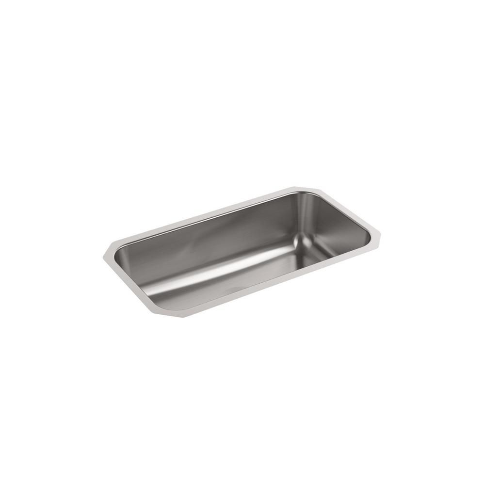 Kohler Ballad Undermount Stainless Steel 32 In Single Bowl Kitchen Sink Silver In 2020 Kitchen Sink Sink Single Bowl Kitchen Sink