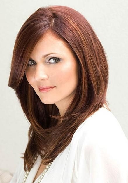 Medium Hairstyles For Round Faces Magnificent Shoulder Length Layers At Chin  Medium Hairstyles For Round Faces