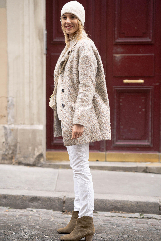 Le total look blanc en hiver - Le Dressing Idéal  cea3a2ba7ef