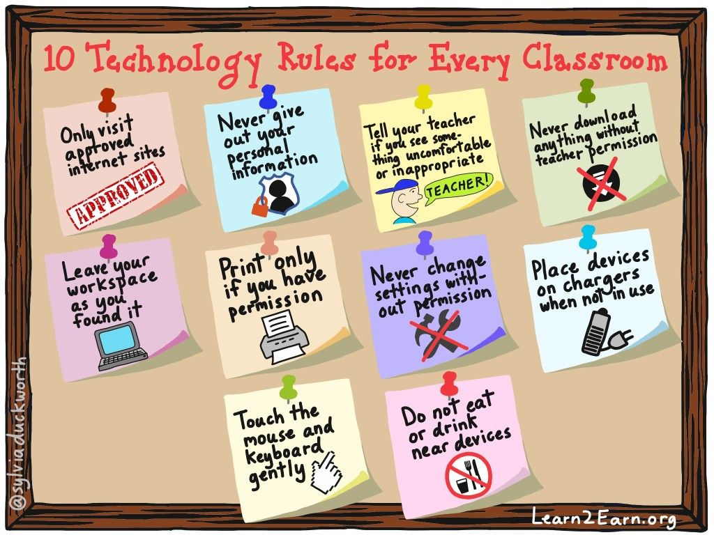 Bring these rules for technology use into your classroom
