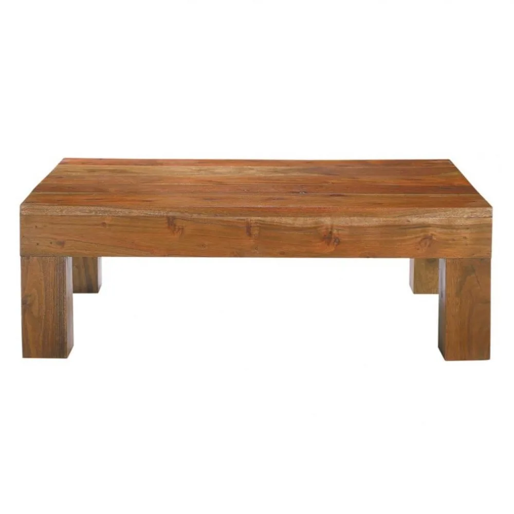 Table Basse En Acacia Massif L 90 Cm Ceylan Maisons Du Monde Country House Decor Wood Bench Coffee Table