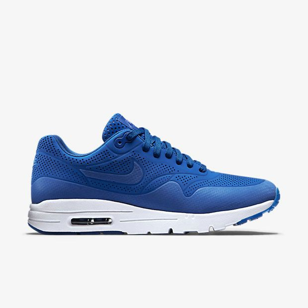 e6ce3cb3a0ce 2018 Shop Nike Air Max 1 Ultra Moire 704995 400 Game Royal White Shoe