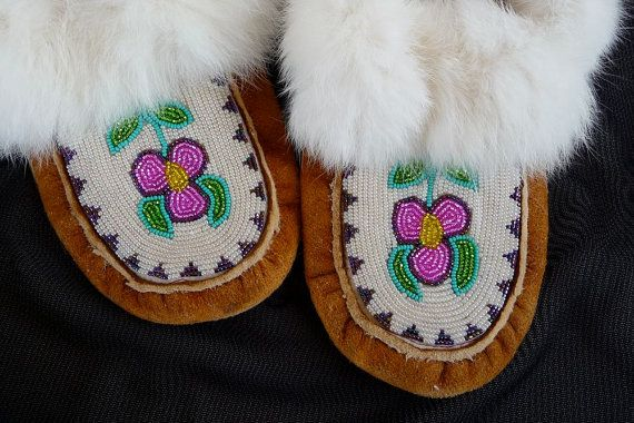 """Love """"Fancy Lucky Vintage"""" and love moccasins. They seem the perfect footwear for life on the Canadian tundra."""
