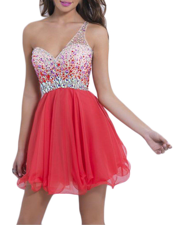 Lucysprom womenus prom dresses open back tulleuchiffon one shoulder